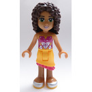 LEGO Andrea, Bright Light Orange Skirt, Magenta Top Minifigure