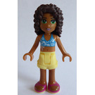 LEGO Andrea with yellow shorts Minifigure