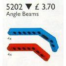 LEGO Angle Beams, Red and Blue Set 5202