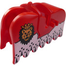 LEGO Animal Horse Barding with Lion and Crown with Black Triangles and Dots Decoration (2490)