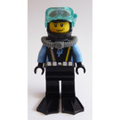 LEGO Aquabase Invasion Diver with Stubble Beard Minifigure