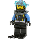 LEGO Aquaraider Diver with Messy Hair and Stubble Minifigure