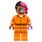 LEGO Arkham Two-Face with Orange Jumpsuit Minifigure
