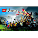 LEGO Army of Vikings with Heavy Artillery Wagon Set 7020 Instructions