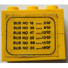LEGO Assembly of two 1 x 3 bricks with bus departure schedule from Set 379
