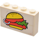LEGO Assembly with Hamburger Sticker