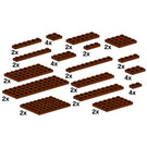 LEGO Assorted Brown Plates Set 10150