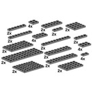 LEGO Assorted Dark Grey Plates Set 10149
