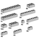 LEGO Assorted Light Grey Bricks Set 10145
