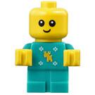 LEGO Baby in Dark Turquoise Jumper Minifigure