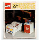 LEGO Baby's Cot and Cabinet Set 271 Instructions