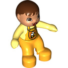 LEGO Baby with Bright Light Orange Romper with Bee Pattern and Pacifier Minifigure