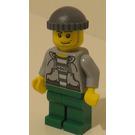 LEGO Bandit / Prisoner, Hooded Torso, with '60675' on Striped Shirt. Minifigure
