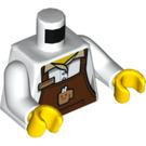LEGO Barista Torso with Reddish Brown Apron (973 / 76382)