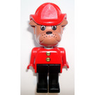 LEGO Barty Bulldog with Fire Helmet 1987 Version Fabuland Minifigure