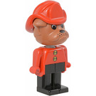 LEGO Barty Bulldog with Fire Helmet and Buttons on Shirt Fabuland Figure