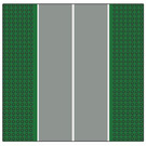 LEGO Baseplate 32 x 32 (7-Stud) Straight with Runway (Narrow)