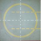 LEGO Baseplate 32 x 32, 9-Stud Landing Pad with Yellow Circle Pattern