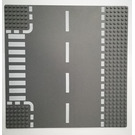 LEGO Baseplate 32 x 32 Road 6-Stud T Intersection with White Dashed Lines and Crosswalk (44341 / 54202)