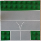 "LEGO Baseplate, Road 32 x 32 with 9-Stud T Intersection with ""V"""