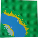 LEGO Baseplate with River and Waterside Decoration