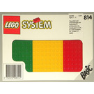 LEGO Baseplates, Green, Red and Yellow Set 814-1