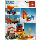 LEGO Basic Building Set, 5+ Set 540-1 Instructions