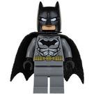 LEGO Batman - Dark Stone Gray Suit, Gold Belt, Black Hands, Spongy Cape Minifigure