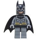 LEGO Batman with Dark Stone Gray Suit and Gold Belt Minifigure