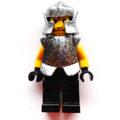 LEGO Battle at the Pass Evil Knight with Speckle Black-Silver Breastplate and Helmet Minifigure