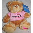 LEGO Bear, Plush with Pink Legoland Windsor T-Shirt, Embroidered Pink Heart on Paw (SB7723)