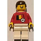 LEGO Belgian Football Player With Moustache with Stickers Minifigure