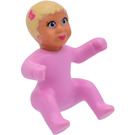 LEGO Belville Baby with Dark Pink Butterfly in Hair Minifigure
