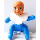 LEGO Belville Baby with Duck Pattern and White Bib Minifigure