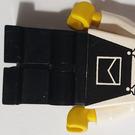 LEGO Big Rig Truck Stop Worker, Black Overalls Minifigure