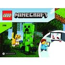 LEGO BigFig Creeper and Ocelot Set 21156 Instructions