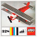 LEGO Biplane Set 328-2 Instructions