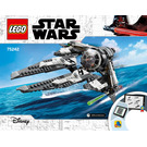 LEGO Black Ace TIE Interceptor Set 75242 Instructions