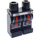 LEGO Black Alpha Team Legs with Red and Silver Decoration