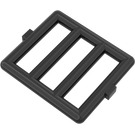 LEGO Black Bar 1 x 4 x 3 with 2 Window Hinges (6016)