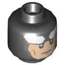 LEGO Black Batman Plain Head (Recessed Solid Stud) (54879)
