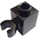 LEGO Black Brick 1 x 1 with Vertical Clip (Open 'O' Clip, Hollow Stud) (60475 / 65460)
