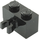 LEGO Black Brick 1 x 2 with Vertical Clip (Gap in Clip) (30237)
