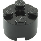 LEGO Black Brick 2 x 2 Round (3941 / 6143)