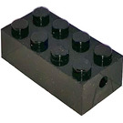 LEGO Black Brick 2 x 4 with Freestyle Wheel Holders (4180)