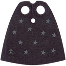 LEGO Black Cape with Stars with Regular Starched Texture