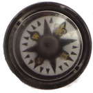 LEGO Black Compass with Fleur-de-lis Decoration