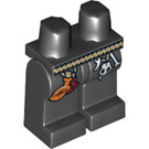 LEGO Black Dragon Wizard Minifigure Hips and Legs (14461)