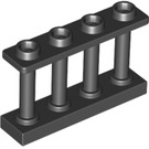 LEGO Black Fence Spindled 1 x 4 x 2 with 4 Top Studs (15332)
