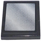 LEGO Black Tile 2 x 2 with Rear-view Mirror  Sticker with Groove